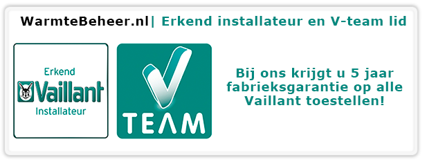 Erkend Vaillant installateur Vteam lid